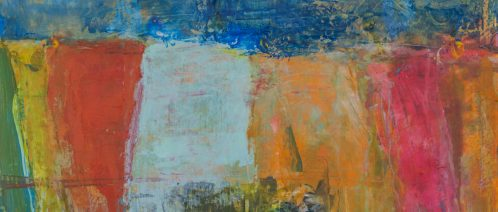Blue washing Line Study. Mixed media 30x30 SOLD
